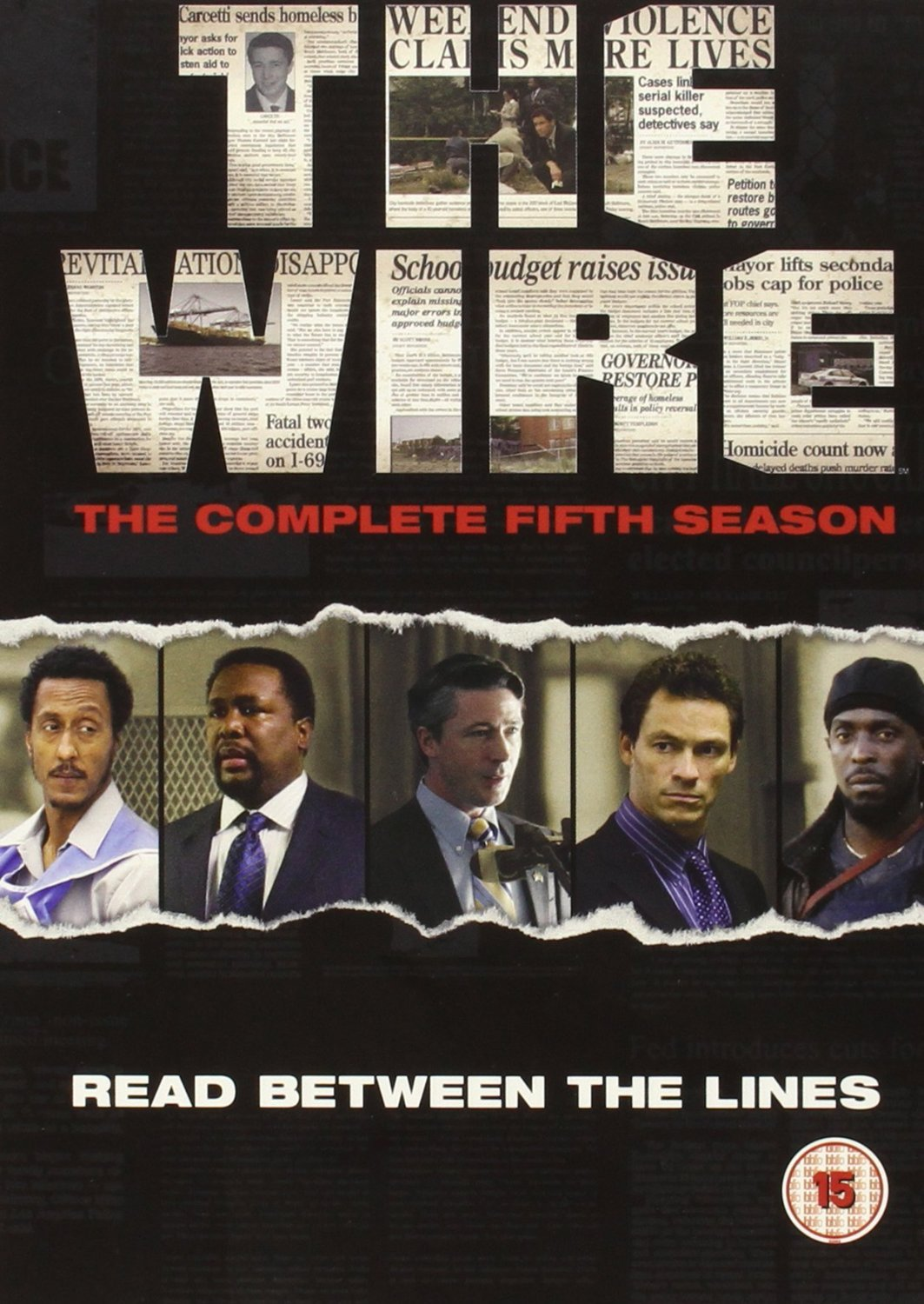 The Wire Complete Season 5 Box Set 4 Discs HBO DVD C 15